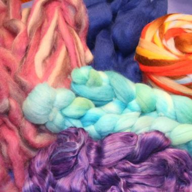 Dyed Roving & Top @ The Fibre Garden