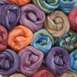 Merino/Silk Roving @The Fibre Garden