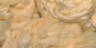 Silk fibres @ The Fibre Garden