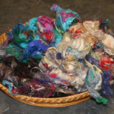 Pulled Silk Fibres @ the Fibre Garden