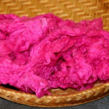Silk Noils – Hot Pink