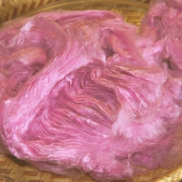 Pulled Sari Silk – Cyclamen