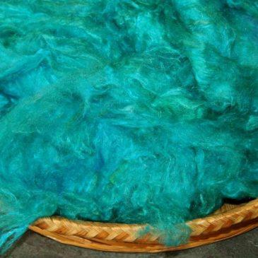 Pulled Sari Silk – Turquoise