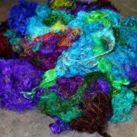 Sari Silk Fibre – Cool Tones