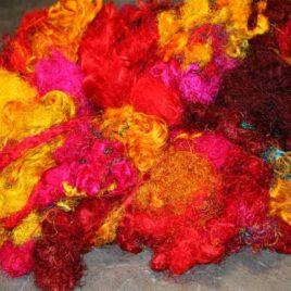 Sari Silk Fibre – Warm Tones