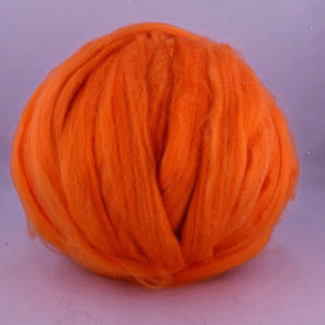Tussah Silk Top – Orange