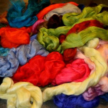 dyed tussah silk top