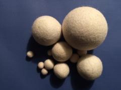 Felted Balls @ The Fibre Garden