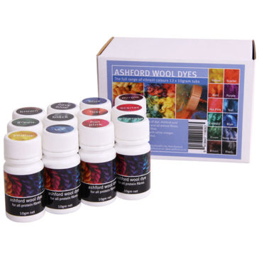 Ashford Wool Dye Collection – 12-pack 10g