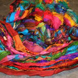 Sari Silk Ribbon Yarn – Multicolour – 100g