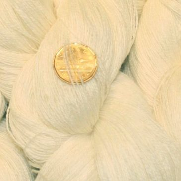Natural Lace Yarn @ The Fibre Garden